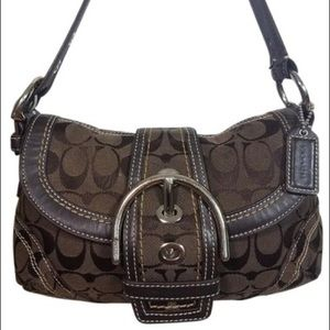 Coach Soho Signature Hobo Handbag Purse Wallet